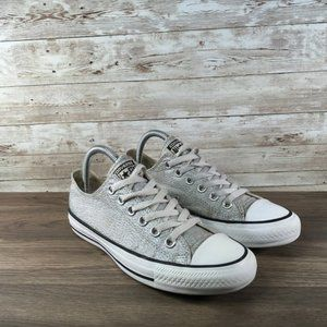 Converse All Star Low Top Womens 7 Sneaker Silver